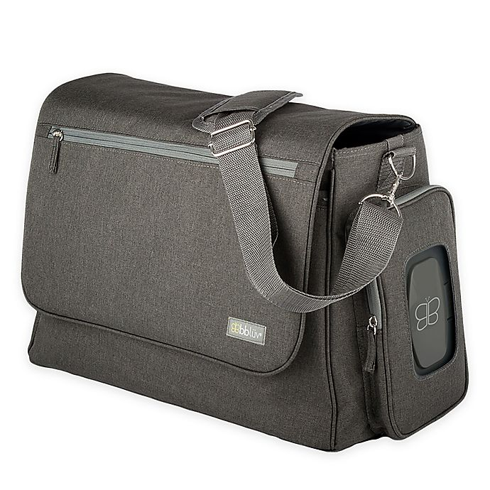 Alternate image 1 for bbluv Ultra Diaper Bag with 5 Accessories in Charcoal