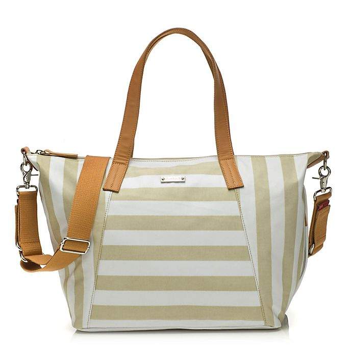 Alternate image 1 for Storksak® Noa Diaper Bag in Stripe Fawn