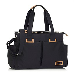 Storksak Travel Shoulder Diaper Bag in Black