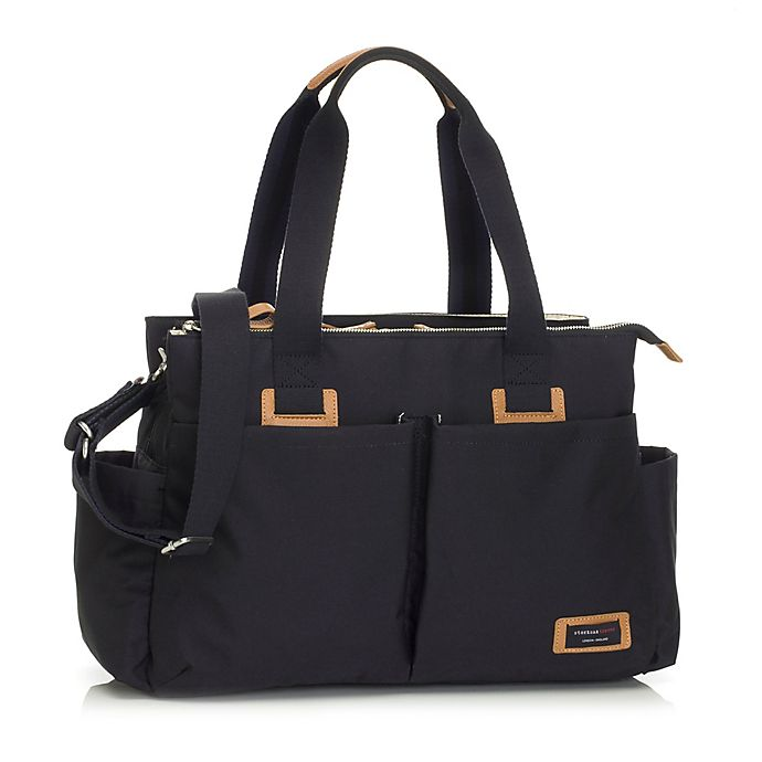 Alternate image 1 for Storksak Travel Shoulder Diaper Bag in Black
