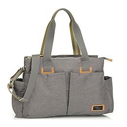 Storksak Travel Shoulder Diaper Bag in Grey