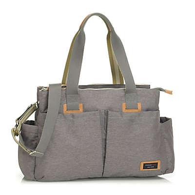 Storksak Travel Shoulder Diaper Bag in Grey