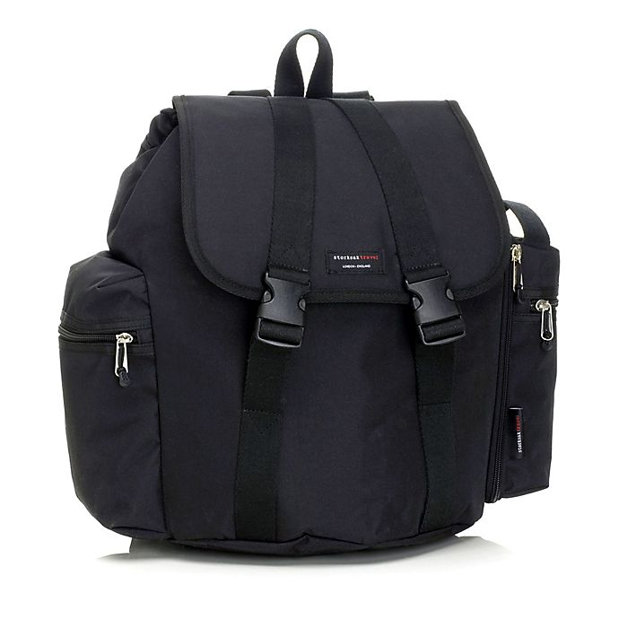 Alternate image 1 for Storksak® Backpack Diaper Bag in Black