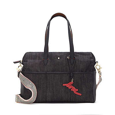 ED Ellen DeGeneres Durby Denim Diaper Bag in Black