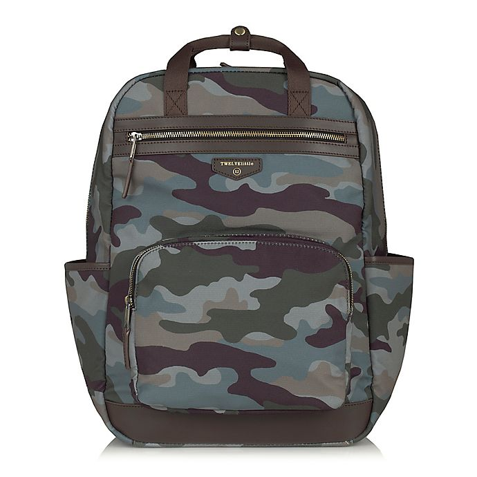 99754e2b2e28be TWELVElittle Unisex Courage Backpack Diaper Bag in Camo | Bed Bath ...