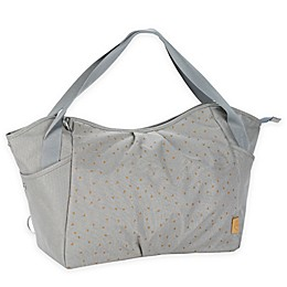 Lassig Casual Twin Diaper Bag in Light Grey Triangle Print