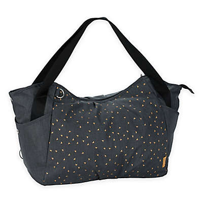 Lassig Casual Twin Diaper Bag in Dark Grey Triangle Print