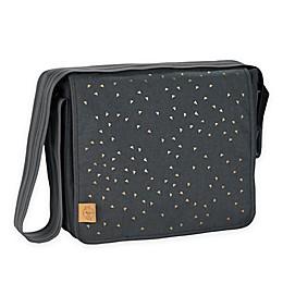 Lassig Casual Messenger Diaper Bag in Dark Grey Triangle Print