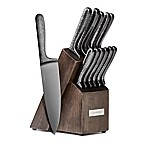 Cambridge® Silversmiths Nero Hammered Black 12-Piece Knife Block Set