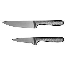 Cambridge® Silversmiths Nero Hammered Black 2-Piece Knife Set