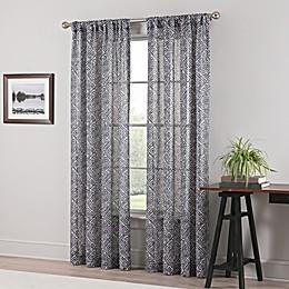 Geneva Sheer Rod Pocket Window Curtain Panel in Taupe