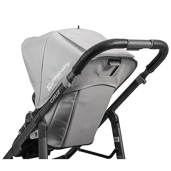 Alternate image 1 for UPPAbaby® CRUZ Leather Handlebar Cover in Black