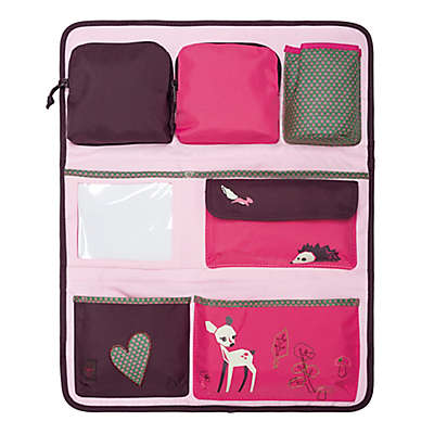 Lassig Little Tree Fawn Backseat Car Organizer in Pink/Brown