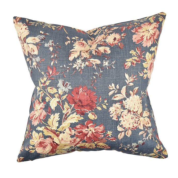 Alternate image 1 for Vesper Lane Classical Floral Square Throw Pillow in Blue