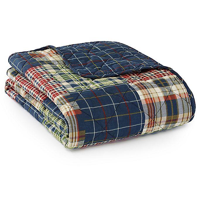 Alternate image 1 for Eddie Bauer® Madrona Plaid Throw Blanket in Blue