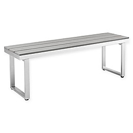 Forest Gate Modern 50-Inch Outdoor Dining Bench in Grey