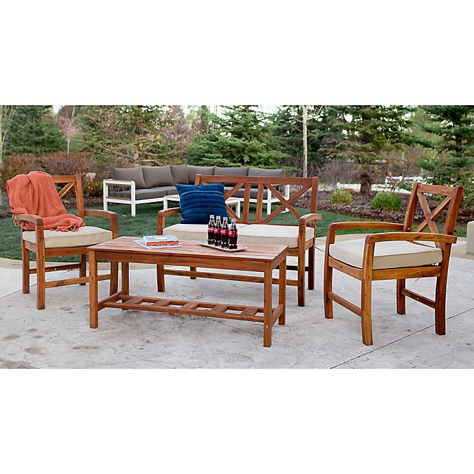 Alternate image 1 for Forest Gate Aspen 4-Piece Patio Conversation Chat Set with Cushions