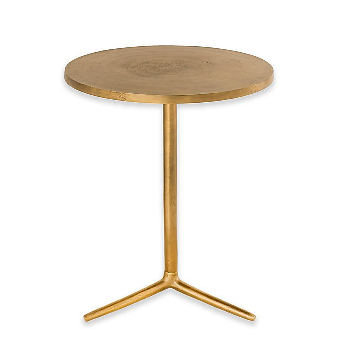 Alternate image 1 for Avery Round Pedestal Table in Brass