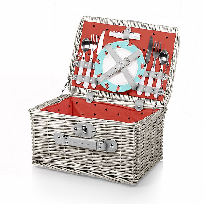 Alternate image 1 for Picnic Time® Catalina Watermelon Picnic Basket Set