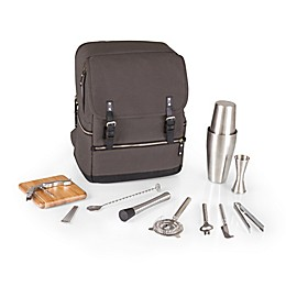 Picnic Time Bar-BackPack Portable Cocktail Tote in Grey