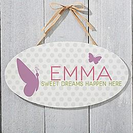Sweet Baby Girl Oval Sign