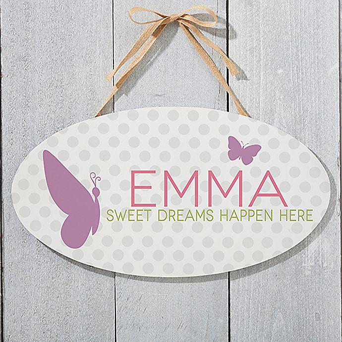 Alternate image 1 for Sweet Baby Girl Oval Sign
