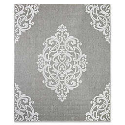 Mohawk Home Oasis Paloma 5-Foot 3-Inch x 7-Foot 6-Inch Area  Rug in Silver