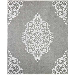 Mohawk Home Oasis Paloma 8-Foot 3 x 10-Foot Area  Rug in Silver