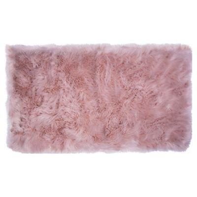 Home Dynamix Faux Fur Accent Rug Bed