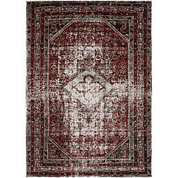 Surya Uthaca Classic Rug in Medium Grey/Dark Red