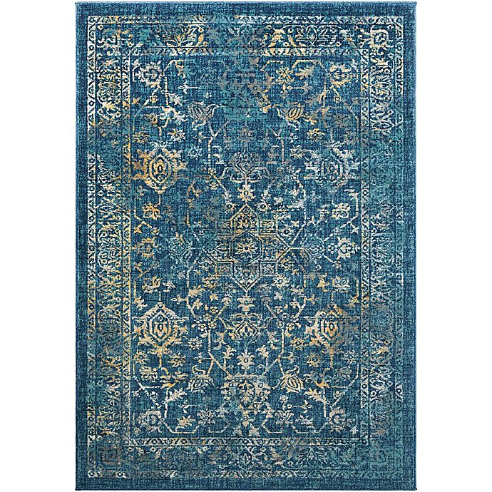 Alternate image 1 for Surya Giltner 5-Foot 3-Inch x 7-Foot 6-Inch Area Rug in Navy