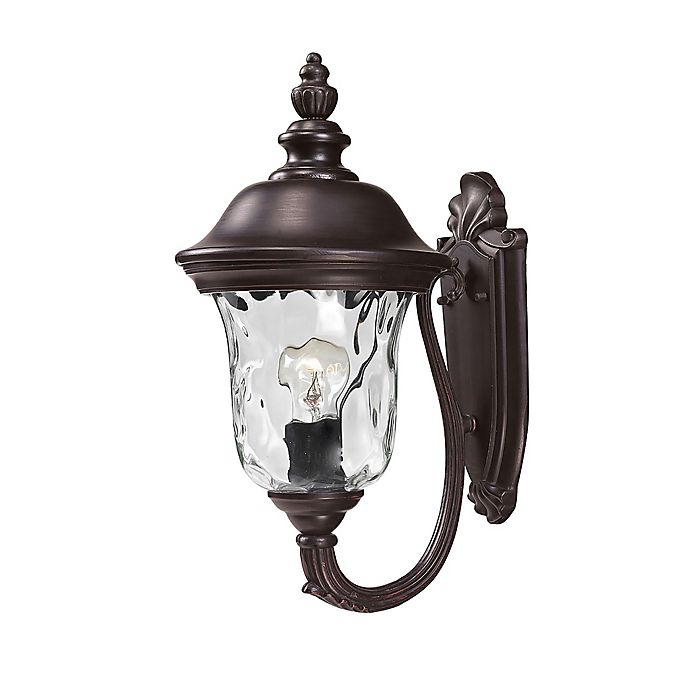Alternate image 1 for Amy Wall-Mount 15.75-Inch Outdoor Lantern in Bronze