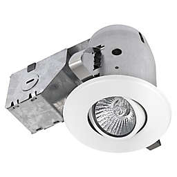 Globe Electric 3-Inch Flush-Mount Recessed Light Kit in White