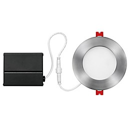 Globe Electric 4-Inch Flush-Mount Integrated  LED Slim Recessed Light in Nickel