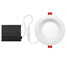 Globe Electric 4-Inch Integrated LED Slim Baffle Recessed Light in White