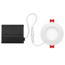 Globe Electric 3-Inch Ceiling-Mount Integrated LED Slim Line Recessed Light in White