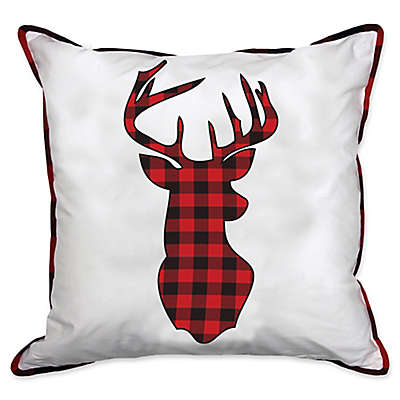 Alamode Home Great White North Deer Square Throw Pillow
