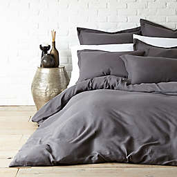 Levtex Home Washed Linen Duvet Cover in Coal