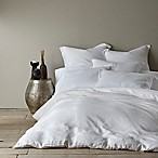Levtex Home Washed Linen King Duvet Cover in White