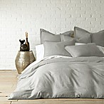 Levtex Home Washed Linen Queen Duvet Cover in Light Grey