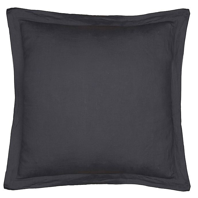Alternate image 1 for Levtex Home Washed Linen European Pillow Sham in Coal
