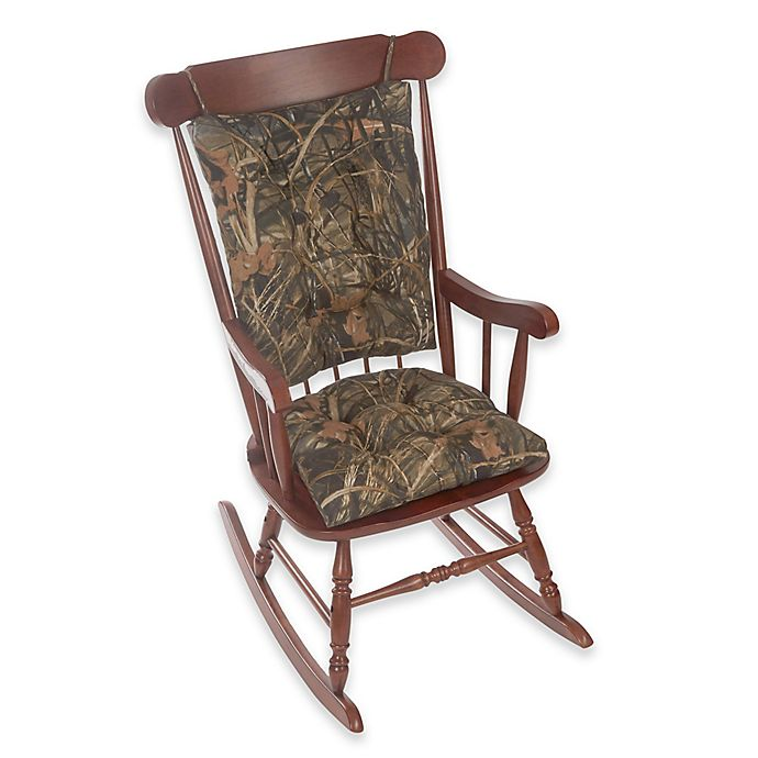 Alternate image 1 for Klear Vu Gripper® Realtree® Camouflage 2-Piece Jumbo Rocking Chair Pad Set in Brown