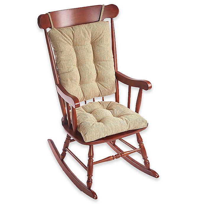 Alternate image 1 for Klear Vu Gripper® Outwest 2-Piece Jumbo Rocking Chair Pad Set in Linen
