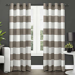 Surfside 84-Inch Grommet Top Window Curtain Panel Pair in Taupe