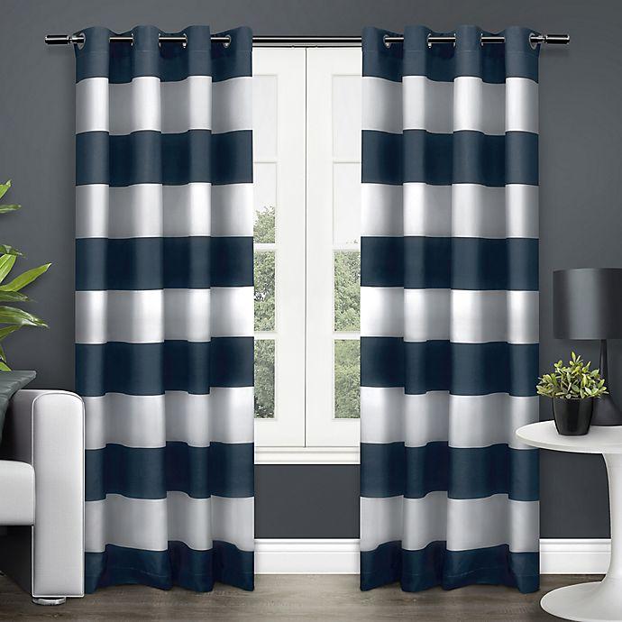Alternate image 1 for Surfside 84-Inch Grommet Top Window Curtain Panel Pair in Indigo