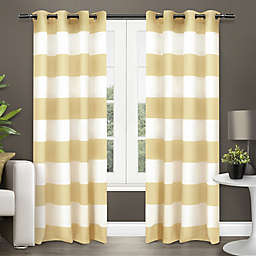 Surfside Grommet Top Window Curtain Panel Pair