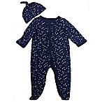 Sterling Baby Size 9M 2-Piece Constellations Footie and Hat Set in Navy
