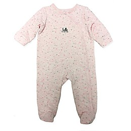 "Sterling Baby ""Hello"" Quilted Footie in Pink"