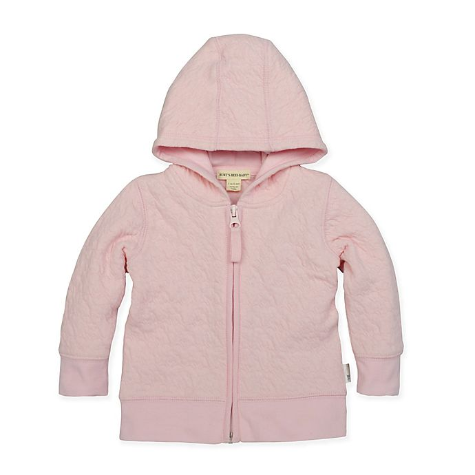 Alternate image 1 for Burt's Bees Baby® Organic Cotton Quilted Bee Jacket in Pink