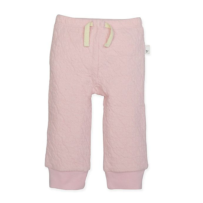 Alternate image 1 for Burt's Bees Baby® Organic Cotton Quilted Pant in Pink